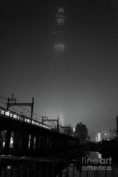 Photograph - Night Skytree, Asakusa Tokyo, Japan by Perry Rodriguez