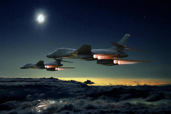 Supersonic Speed Wall Art - Digital Art - Night Strike  by Peter Chilelli