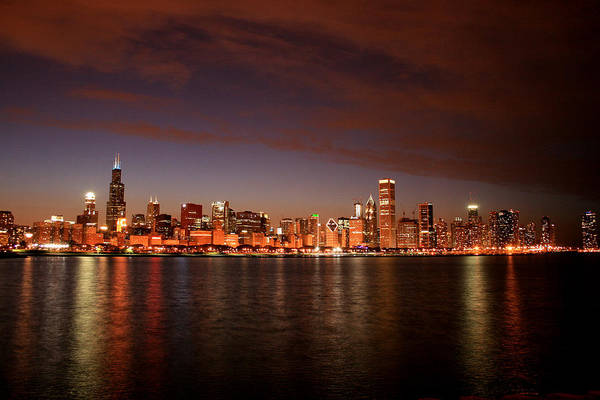 Photograph - Night Time In The City by Laura Kinker