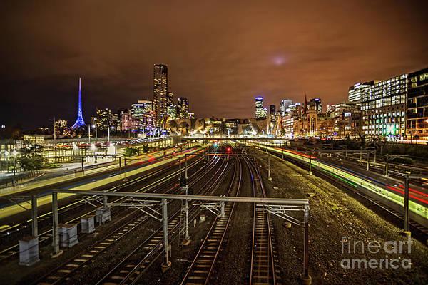 Photograph - Night Train by Franz Zarda
