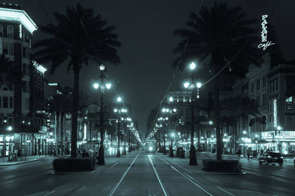 Wall Art - Photograph - Night View Of Canal Street, New Orleans by Art Spectrum