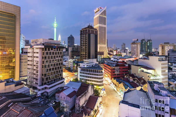 Photograph - Night View Of Kuala Lumpur Skyline In Malaysia by Didier Marti