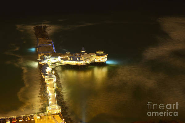 Photograph - Night View Of Rosa Nautica Restaurant Lima by James Brunker