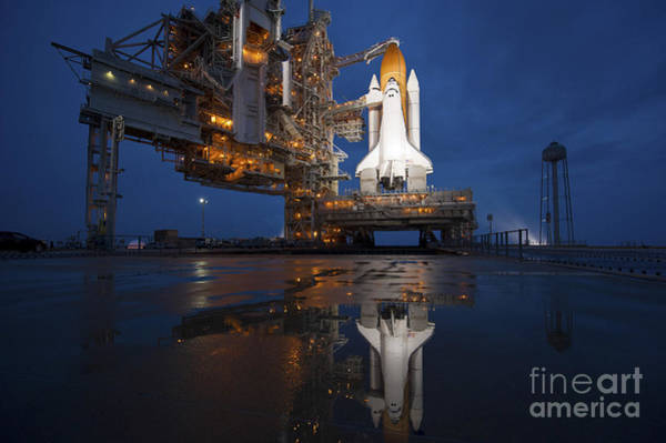 Photograph - Night View Of Space Shuttle Atlantis by Stocktrek Images