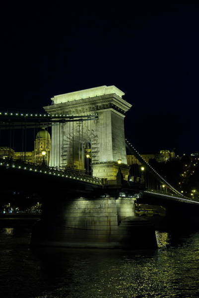 Photograph - Night View Of The Szchenyi Chain Bridge by Lucinda Walter