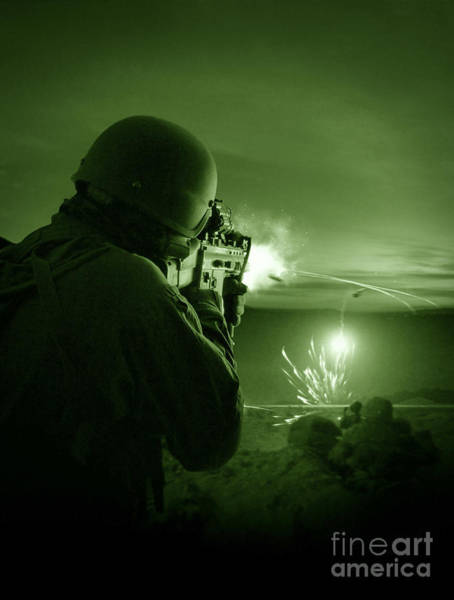 Sharpshooter Wall Art - Photograph - Night Vision View Of A Special by Tom Weber