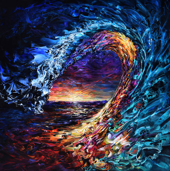 Wall Art - Painting - Night Wave by Susan Card