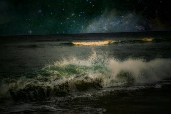 Wall Art - Photograph - Night Waves by Shelley Smith