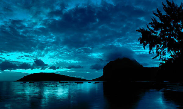 Photograph - Nightfall In Mauritius by Julian Cook
