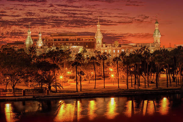 Nightfall In Tampa Art Print