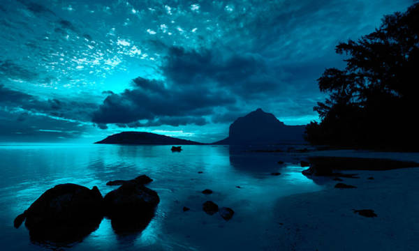 Photograph - Nightfall Near Le Morne by Julian Cook