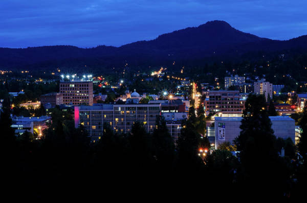 Photograph - Nightfall Over Eugene by Margaret Pitcher