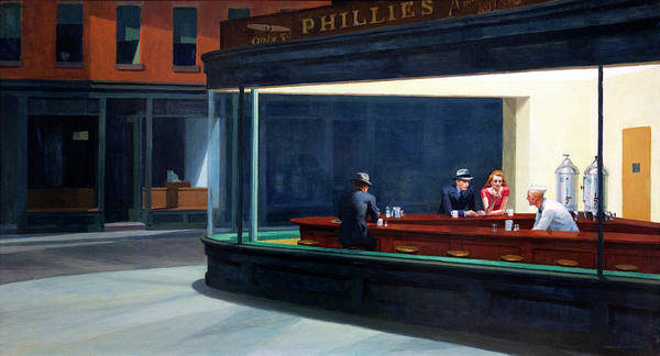 Wall Art - Photograph - Nighthawks By Edward Hopper by Daniel Hagerman