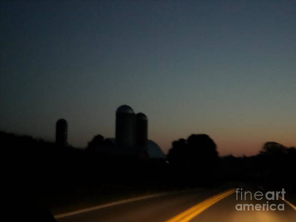 Photograph - Nightime Settles Over The Farm by Christine Clark
