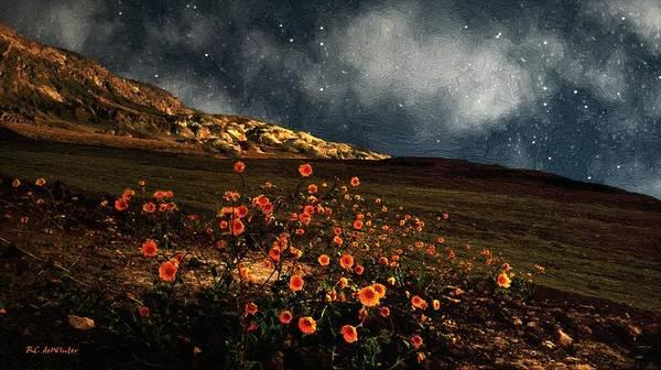 Death Valley Painting - Nightlife In Death Valley by RC DeWinter