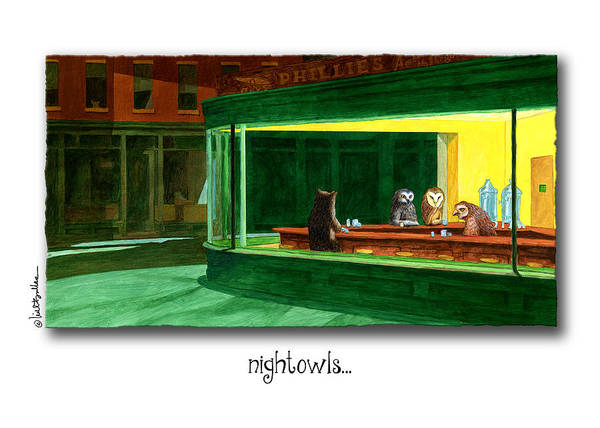 Painting - Nightowls... by Will Bullas