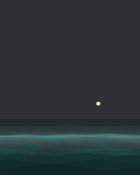 Digital Art - Nights At Sea by Val Arie