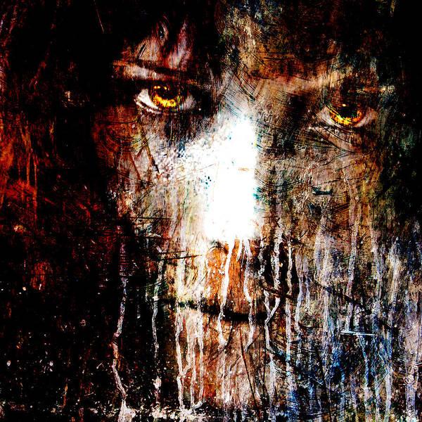 Acrylic Mixed Media - Night Eyes by Marian Voicu