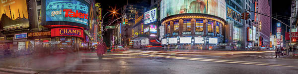 Time Exposure Wall Art - Photograph - Nights On Broadway by Az Jackson
