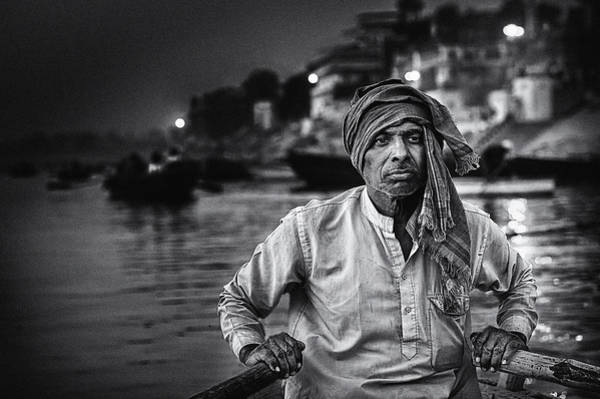 Ganges River Photograph - Nights On The Ganges by Piet Flour