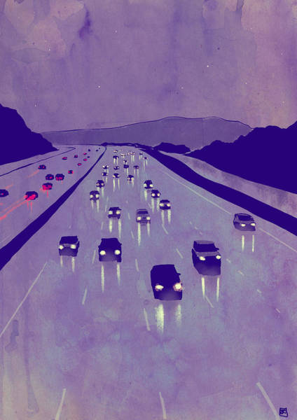 Drive Drawing - Nightscape 01 by Giuseppe Cristiano