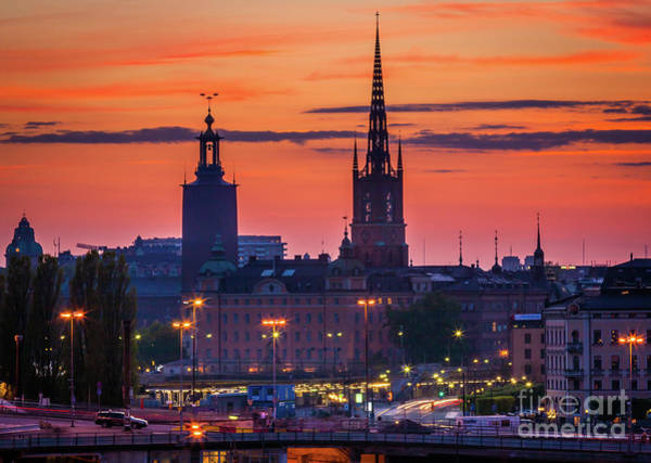 Scandinavia Photograph - Nightsky Over Stockholm by Inge Johnsson