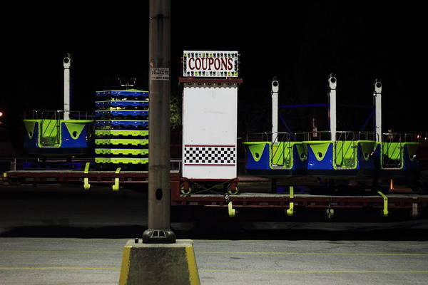 Carnies Photograph - Nighttime Coupons by Kreddible Trout