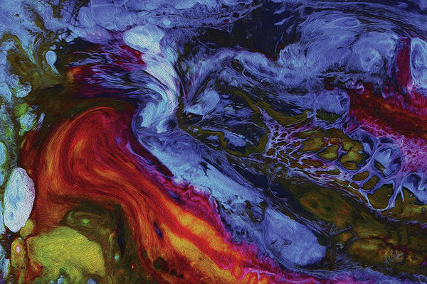 Pouring Digital Art - Nighttime Heat by Amy Nordby