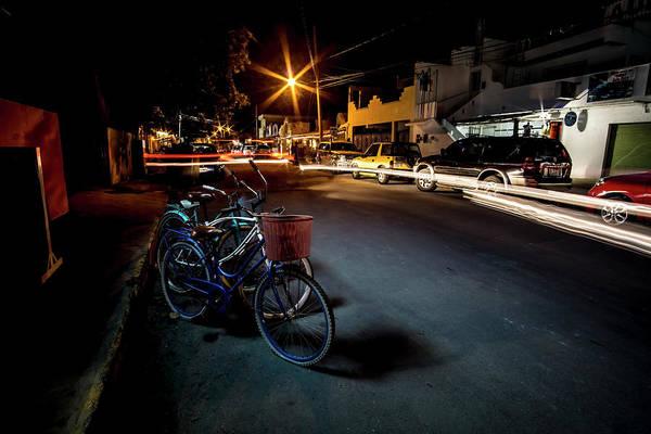 Photograph - Nighttime Mexican Street Scene by Sven Brogren