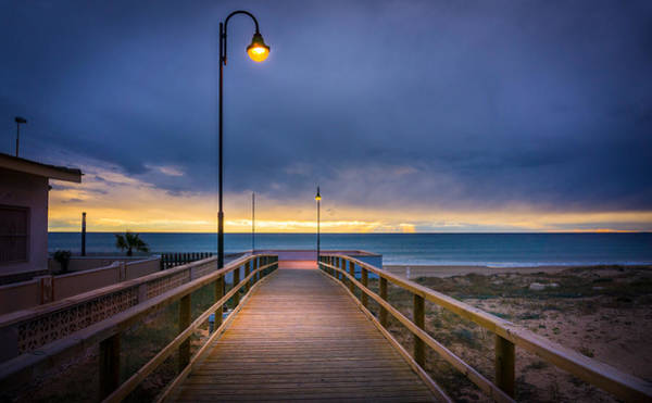 Photograph - Nighttime Walk. by Gary Gillette