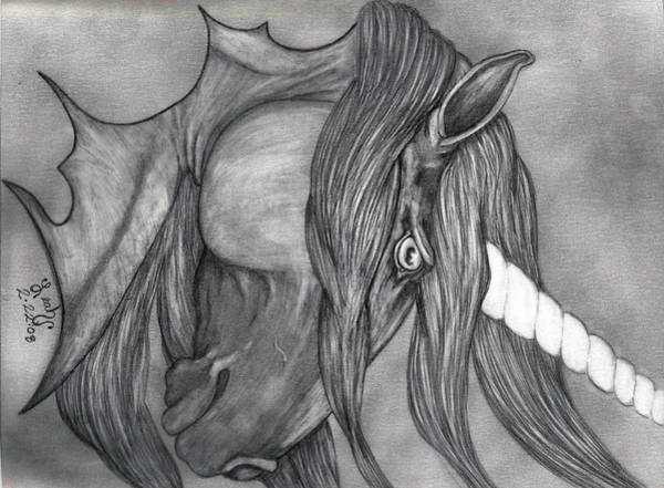 Wall Art - Drawing - Nightwish by Leah Marie King