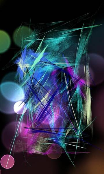 Wall Art - Digital Art - Nighty Moon Fairy Dance by Agnes V