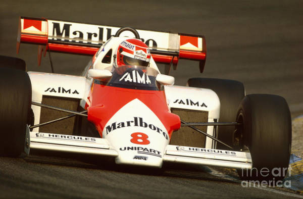 Racing Shell Photograph - Niki Lauda. 1984 Dutch Grand Prix by Oleg Konin