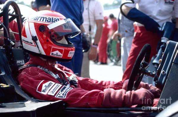 Racing Shell Photograph - Niki Lauda. 1984 Portuguese Grand Prix by Oleg Konin