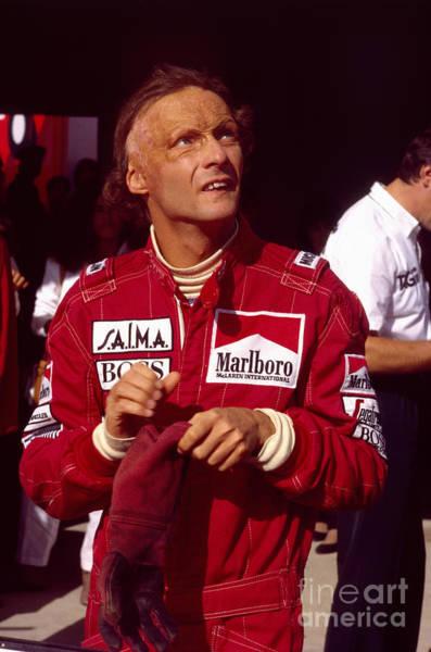Racing Shell Photograph - Niki Lauda. Marlboro Mclaren International by Oleg Konin