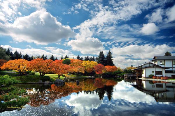 Wall Art - Photograph - Nikka Yuko Japanese Garden by Tom Buchanan