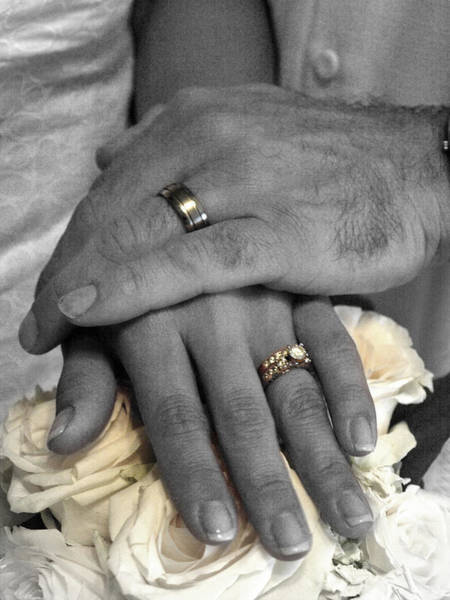 Photograph - Nikki And Kris Wedding Rings by James Granberry