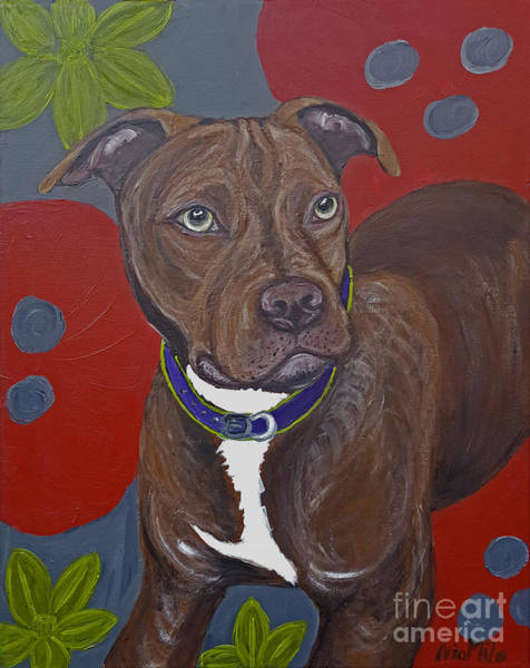 Painting - Niko The Pit Bull by Ania M Milo
