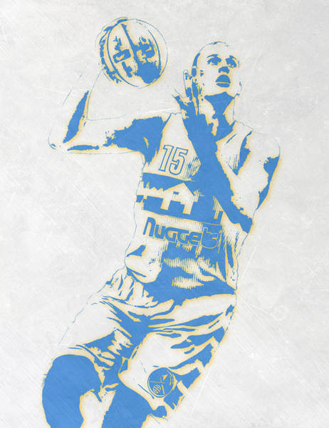 Nba Mixed Media - Nikola Jokic Denver Nuggets Pixel Art by Joe Hamilton