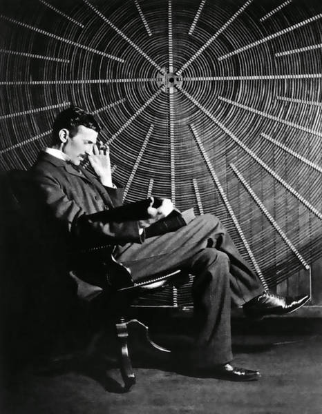 Current Photograph - Nikola Tesla And Machine by Daniel Hagerman