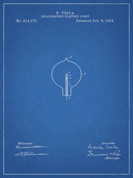Wire Mixed Media - Nikola Tesla Light Patent by Dan Sproul
