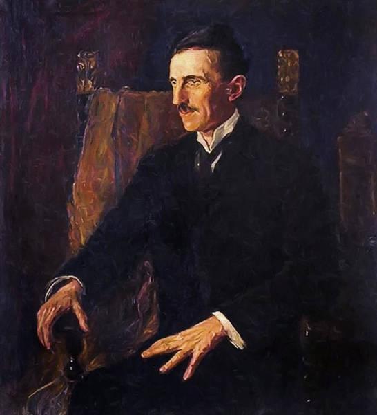Seer Wall Art - Digital Art - Nikola Tesla - Only Known Life Portrait by Daniel Hagerman
