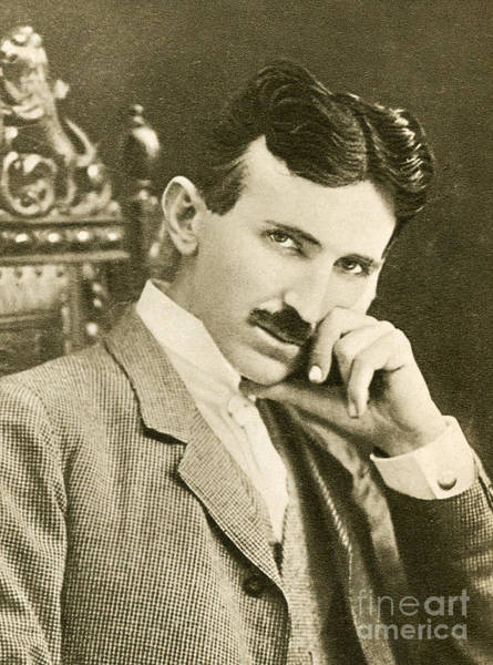 Wall Art - Photograph - Nikola Tesla, Serbian-american Inventor by Photo Researchers