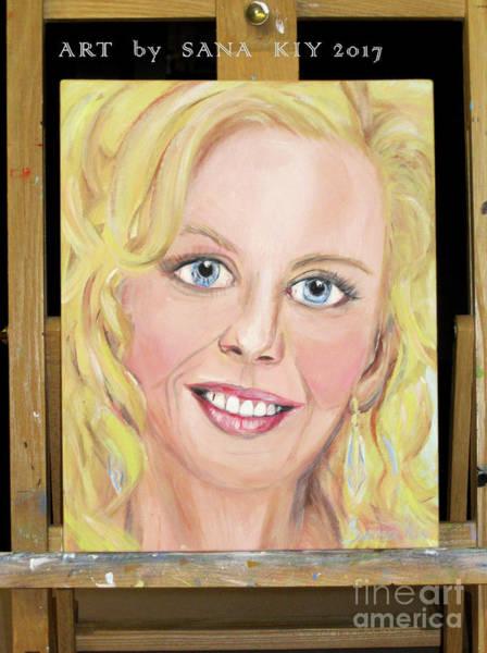 Painting - Nicole Kidman Portrait. Art By Sana Kiy by Oksana Semenchenko