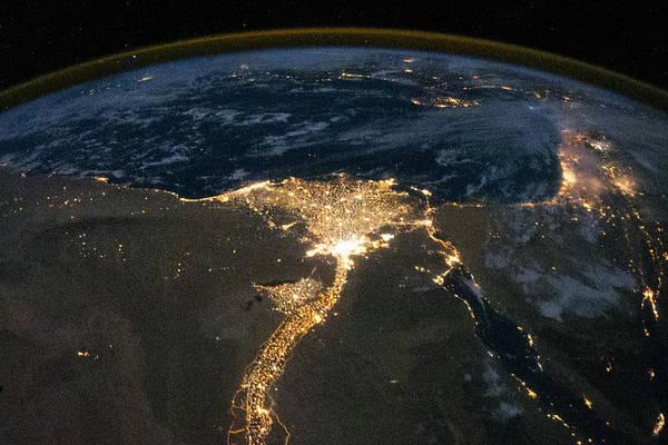 Photograph - Nile River Delta At Night by Artistic Panda