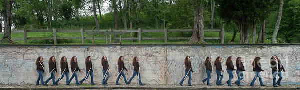 Photograph - Nina At The Wall by Dan Friend