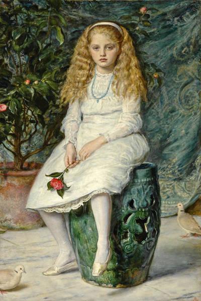 Millais Painting - Nina, Daughter Of Frederick Lehmann, Esq. by John Everett Millais
