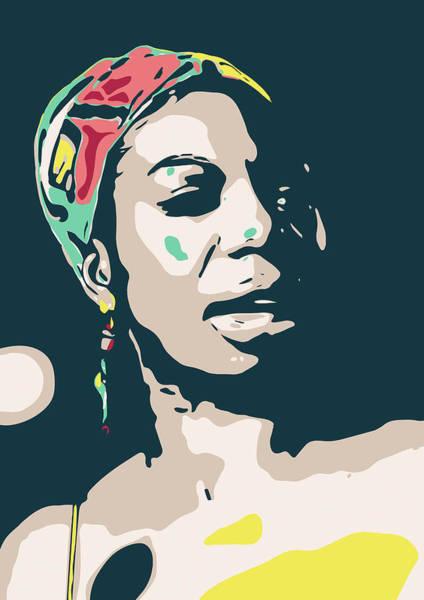 Nina Simone Wall Art - Digital Art - Nina Simone by Greatom London
