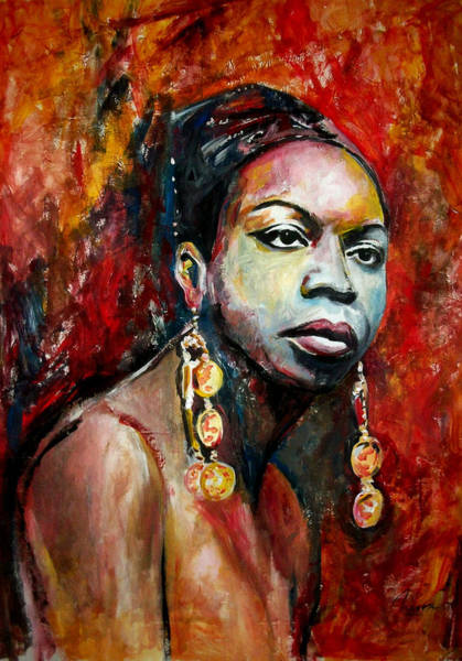 Nina Simone Wall Art - Painting - Nina Simone by Marcelo Neira
