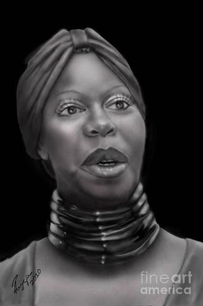 Nina Simone Wall Art - Painting - Nina Simone-revolution by Reggie Duffie
